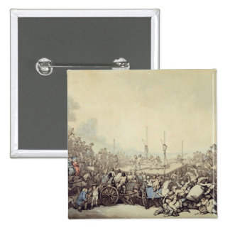 The Prize Fight, 1787 (pen, ink and w/c over graph 15 Cm Square Badge