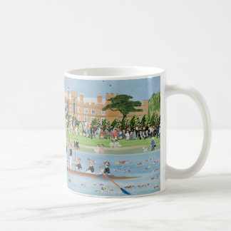 The Procession of Boats at Eton College Coffee Mug