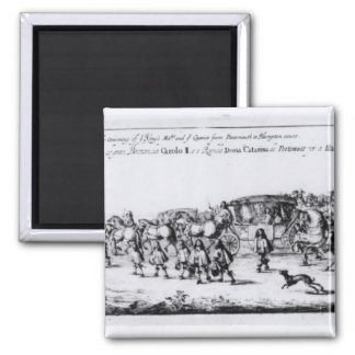 The Procession of Charles II Magnet