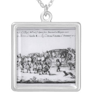 The Procession of Charles II Silver Plated Necklace