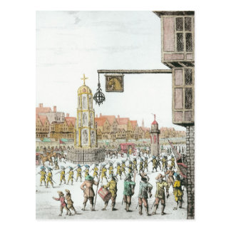 The Procession of Marie de Medici along Postcards