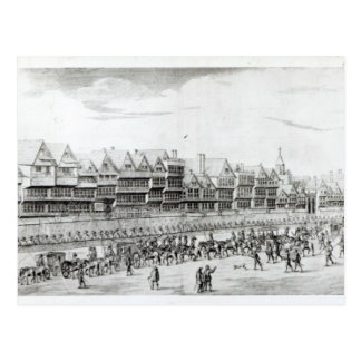 The Procession of Marie de Medici along Postcard