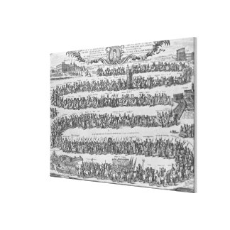 The Procession of Pope Innocent XII Canvas Prints