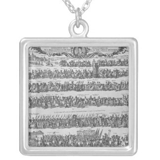 The Procession of Pope Innocent XII Silver Plated Necklace