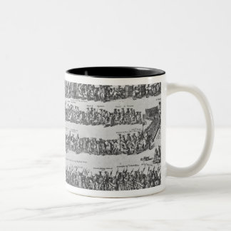 The Procession of Pope Innocent XII Two-Tone Coffee Mug