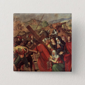 The Procession to Calvary, c.1505 15 Cm Square Badge