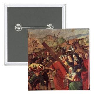 The Procession to Calvary, c.1505 15 Cm Square Badge