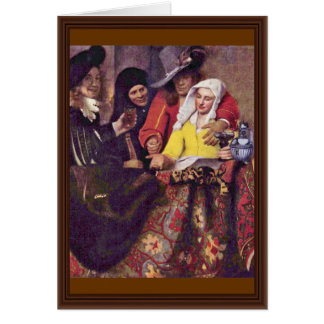 The Procuress,  By Johannes Vermeer Greeting Card