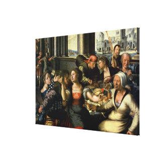 The Prodigal Son, 1536 Canvas Print
