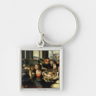 The Prodigal Son, 1536 Silver-Colored Square Key Ring