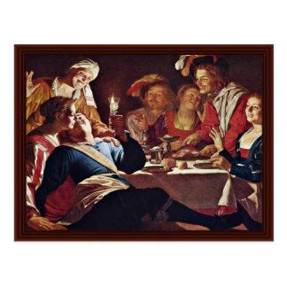 The Prodigal Son,  By Honthorst Gerard Van Postcard