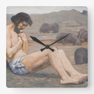 The Prodigal Son, c. 1879 (oil on linen) Square Wall Clock