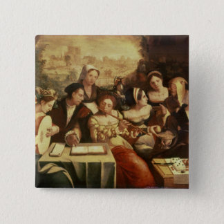 The Prodigal Son Feasting with Harlots 15 Cm Square Badge