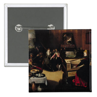 The Prodigal Son with the Courtesans 15 Cm Square Badge