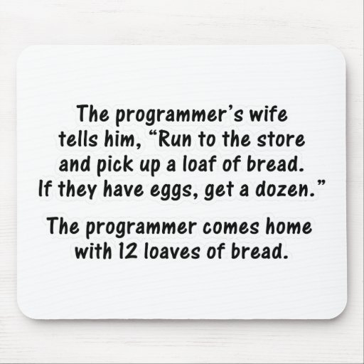 The Programmer and His Wife - Second in a series Mouse Pad