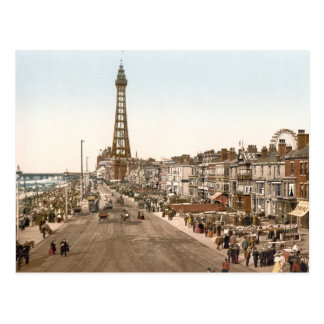 The Promenade, Blackpool, England Postcard