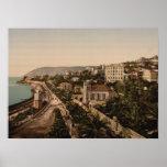 The Promenade, Sanremo, Liguria, Italy Poster