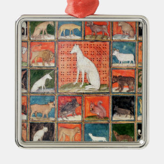 The Properties of Beasts: The Mammals Silver-Colored Square Decoration