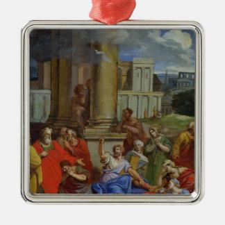 The Prophet Agabus Predicting Silver-Colored Square Decoration