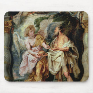 The Prophet Elijah and the Angel Mouse Mat