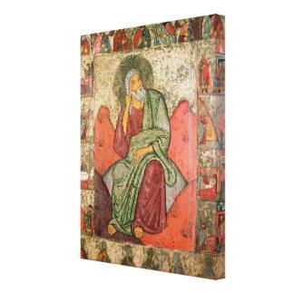 The Prophet Elijah, Pskov School (panel) Canvas Print