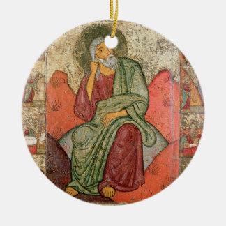 The Prophet Elijah, Pskov School (panel) Christmas Ornament