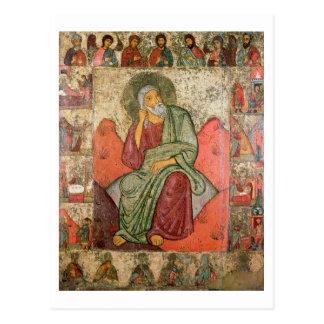 The Prophet Elijah, Pskov School (panel) Postcard