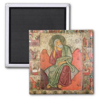 The Prophet Elijah, Pskov School (panel) Square Magnet