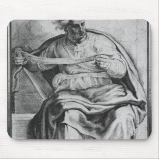 The Prophet Joel, after Michangelo Buonarroti Mouse Mat