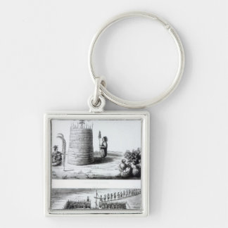 The Prophet's Lodge and Medawisos Silver-Colored Square Key Ring