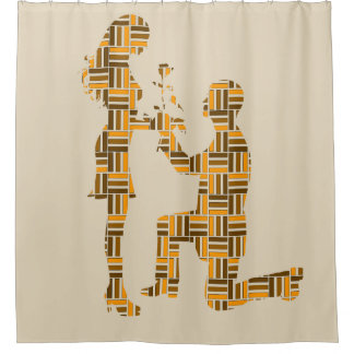 The Proposal:  Friendship, Marriage & Love Shower Curtain