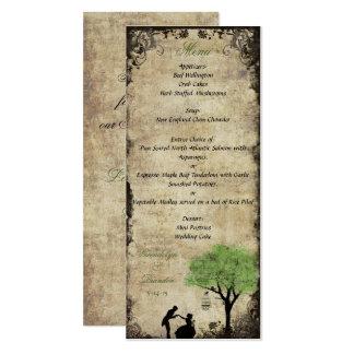 The Proposal Green Wedding Menu Card