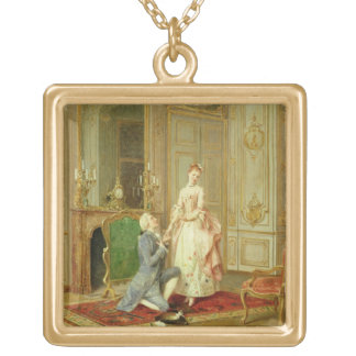 The Proposal (oil on panel) Custom Necklace