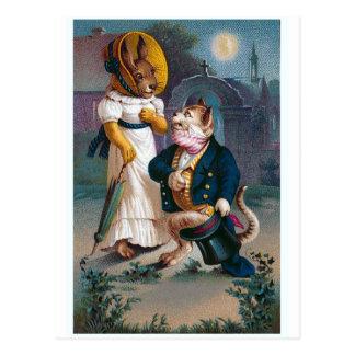 """The Proposal"" Vintage Valentine Postcard"