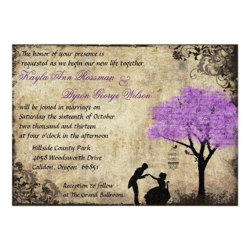 The Proposal Vintage Wedding Invitation.