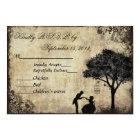 The Proposal Vintage Wedding RSVP Black Card