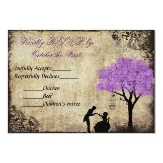 The Proposal Vintage Wedding RSVP Card