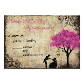 The Proposal Vintage Wedding RSVP Hot Pink Custom Announcement