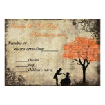 The Proposal Vintage Wedding RSVP in Orange Personalized Invitations