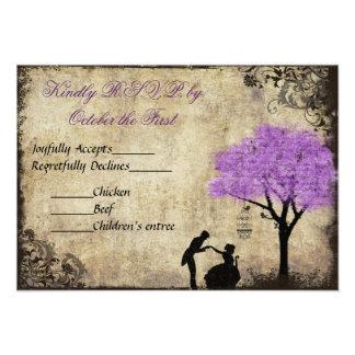 The Proposal Vintage Wedding RSVP Announcement