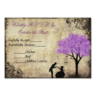 The Proposal Vintage Wedding RSVP 3.5x5 Paper Invitation Card