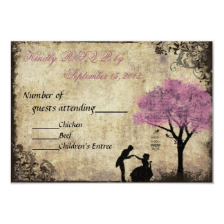 The Proposal Vintage Wedding RSVP Pink Invitations