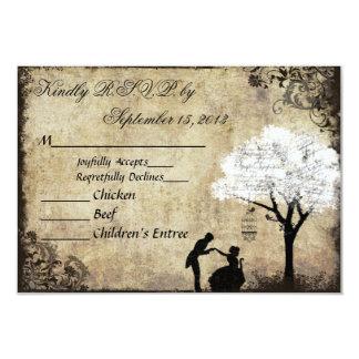 The Proposal Vintage Wedding RSVP White 9 Cm X 13 Cm Invitation Card
