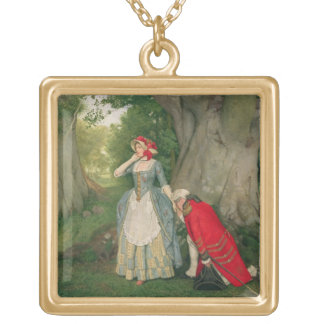 The Proposal (w/c on paper) Square Pendant Necklace