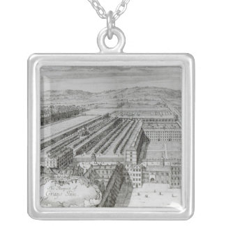 The Prospect of Grays Inn, 1720 Silver Plated Necklace