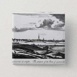 The Prospect of the Town of Glasgow 15 Cm Square Badge