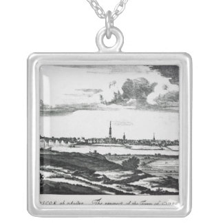 The Prospect of the Town of Glasgow Silver Plated Necklace