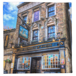 The Prospect Of Whitby Pub London Napkin