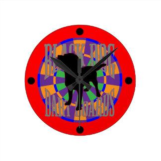 The Prospector Round Clock