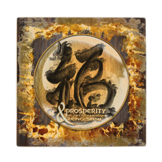THE PROSPERITY CONNEXION : Art of Chinese Fengshui Wood Coaster
